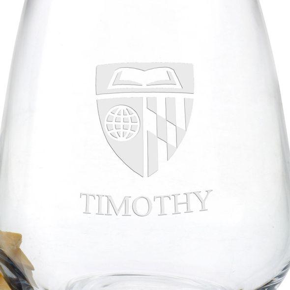 Johns Hopkins University Stemless Wine Glasses - Set of 4 - Image 3
