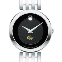 George Washington University Women's Movado Esparanza Stainless Steel Museum with Bracelet