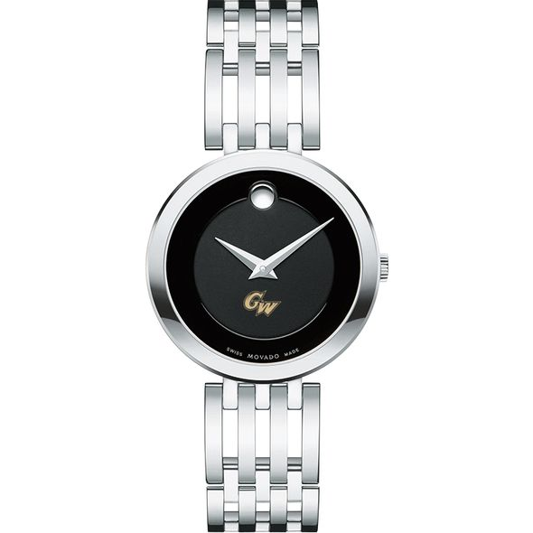 George Washington University Women's Movado Esparanza Stainless Steel Museum with Bracelet - Image 2