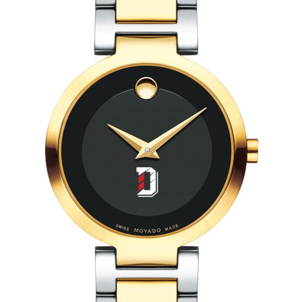 Davidson College Women's Movado Two-Tone Modern Classic Museum with Bracelet