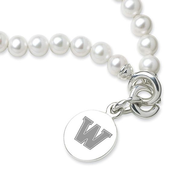 Williams College Pearl Bracelet with Sterling Silver Charm - Image 2