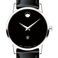 College of William & Mary Women's Movado Museum with Leather Strap
