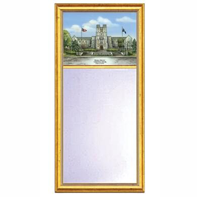 Virginia Tech Eglomise Mirror with Gold Frame