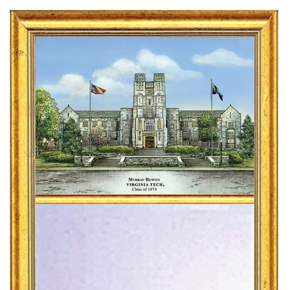 Virginia Tech Eglomise Mirror with Gold Frame - Image 2