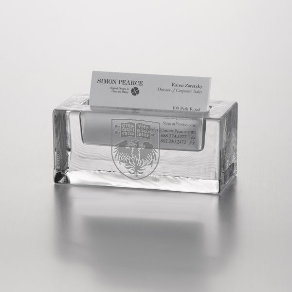 UChicago Glass Business Cardholder by Simon Pearce