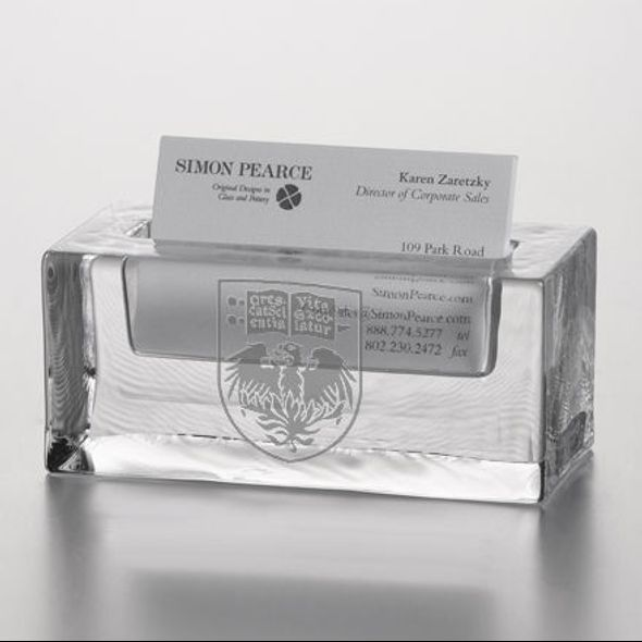 UChicago Glass Business Cardholder by Simon Pearce - Image 2