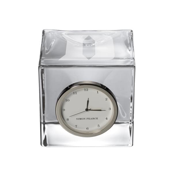 Duke Glass Desk Clock by Simon Pearce