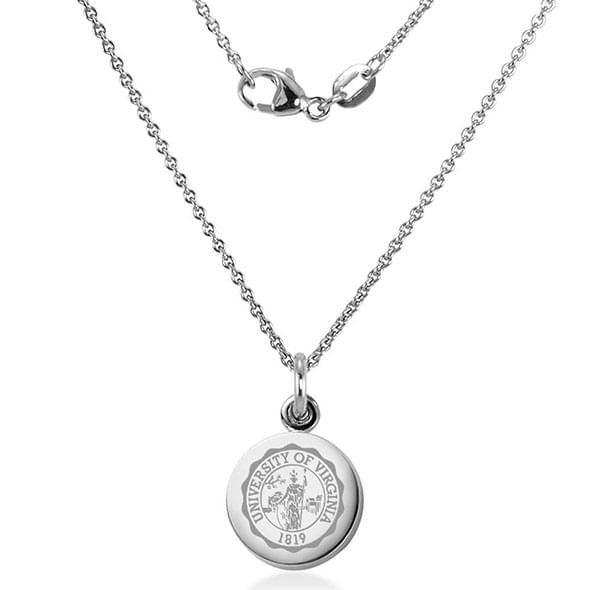 University of Virginia Necklace with Charm in Sterling Silver - Image 2