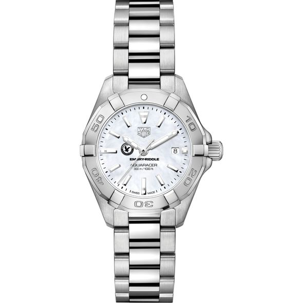 Embry-Riddle Women's TAG Heuer Steel Aquaracer w MOP Dial - Image 2