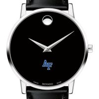 US Air Force Academy Men's Movado Museum with Leather Strap