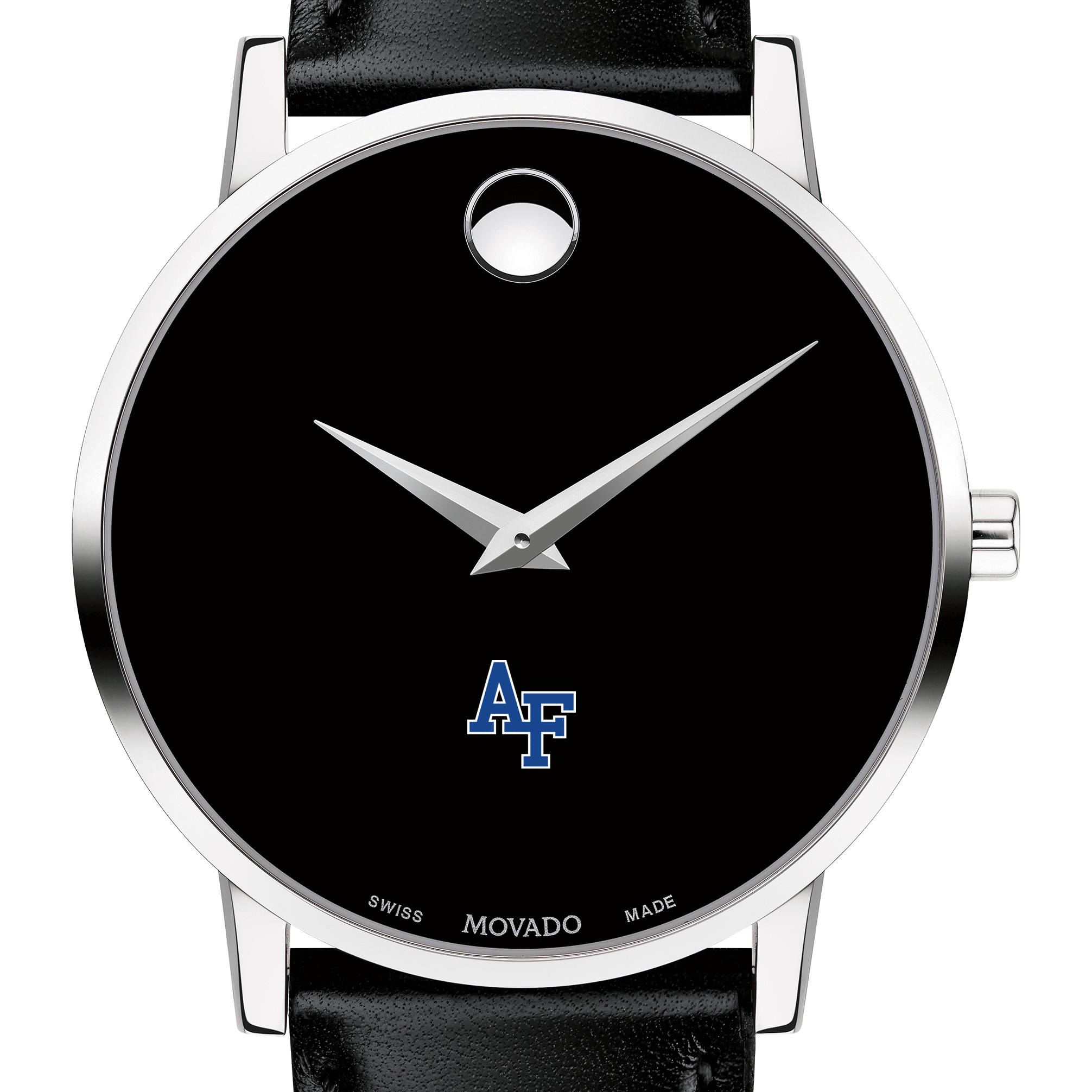 USAFA Men's Movado Museum with Leather Strap