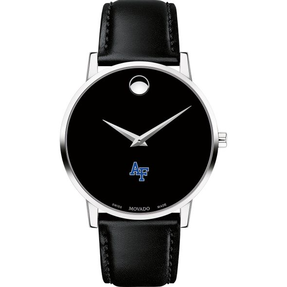 US Air Force Academy Men's Movado Museum with Leather Strap - Image 2