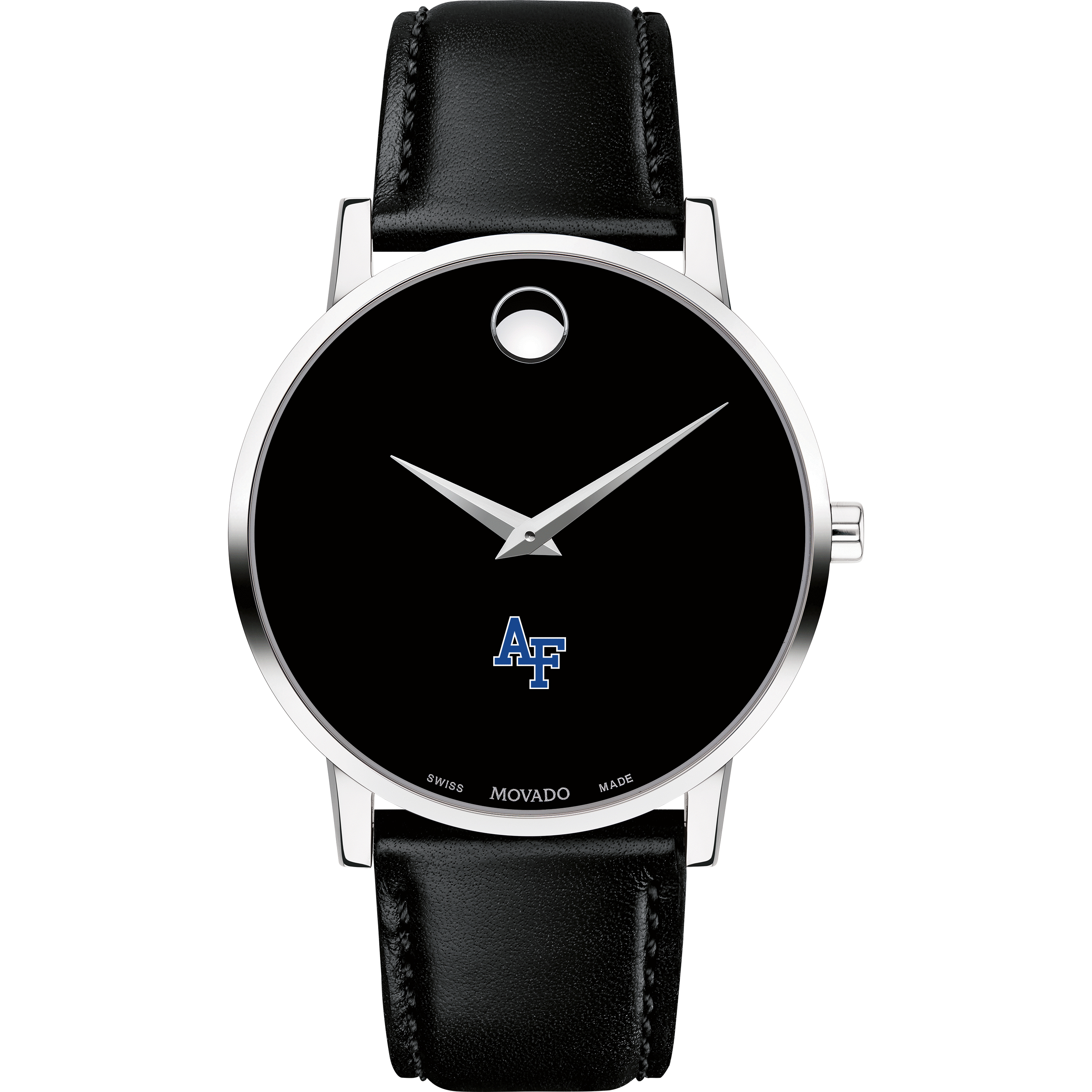 USAFA Men's Movado Museum with Leather Strap - Image 2