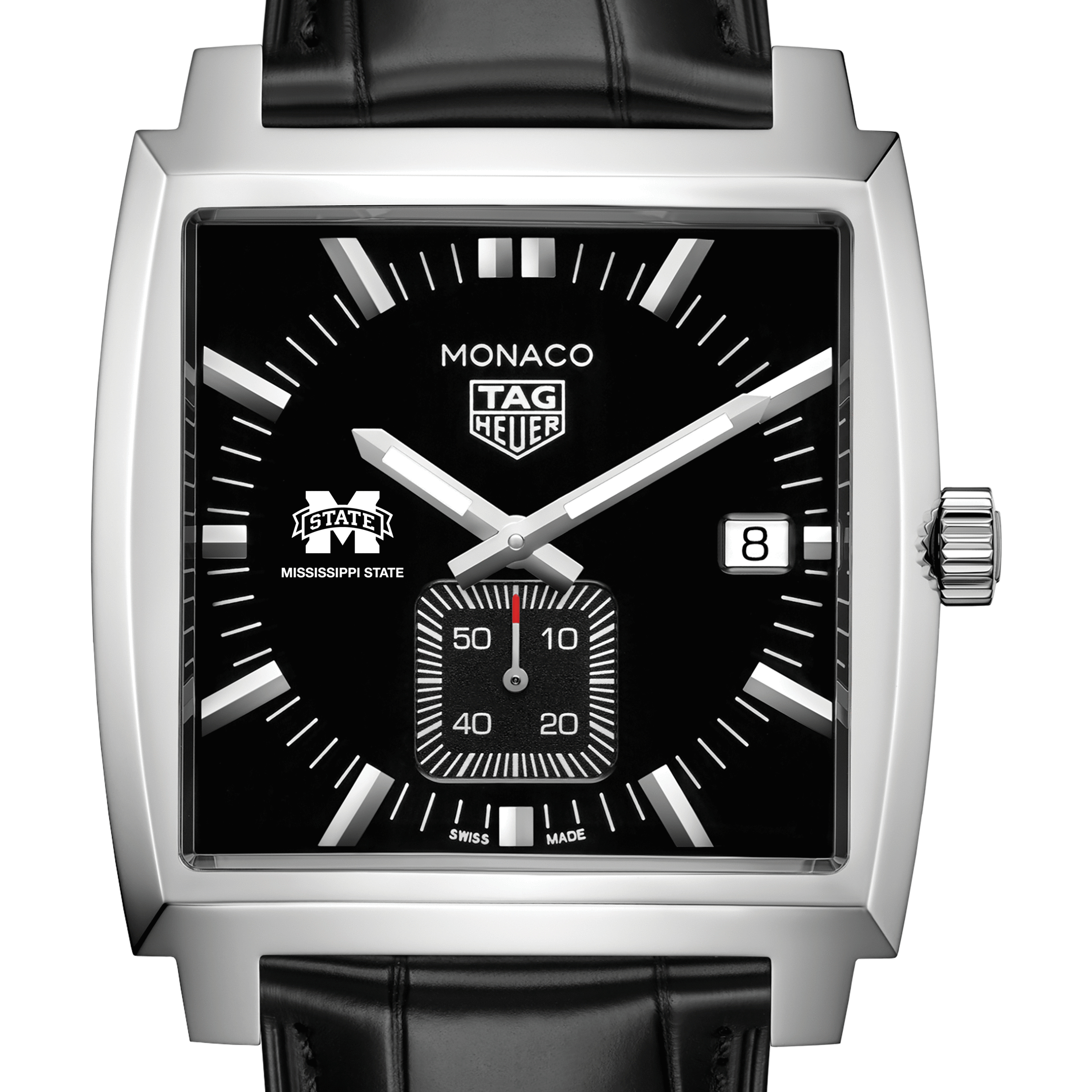 Mississippi State TAG Heuer Monaco with Quartz Movement for Men