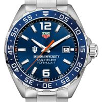Indiana University Men's TAG Heuer Formula 1 with Blue Dial & Bezel