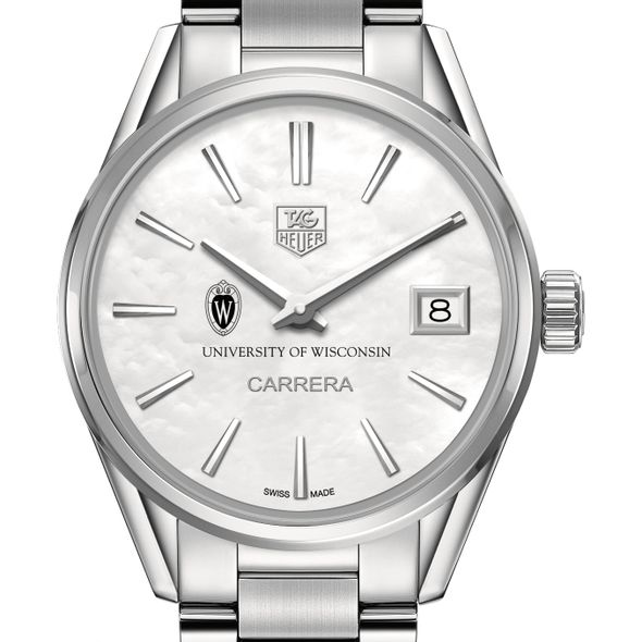 University of Wisconsin Women's TAG Heuer Steel Carrera with MOP Dial