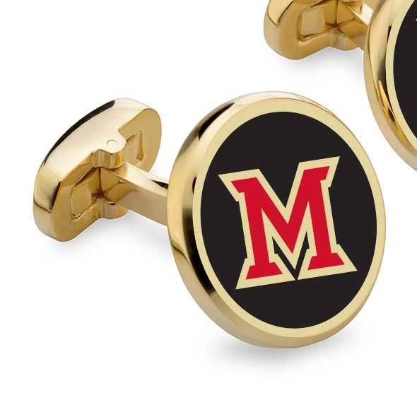 Miami University Enamel Cufflinks - Image 2
