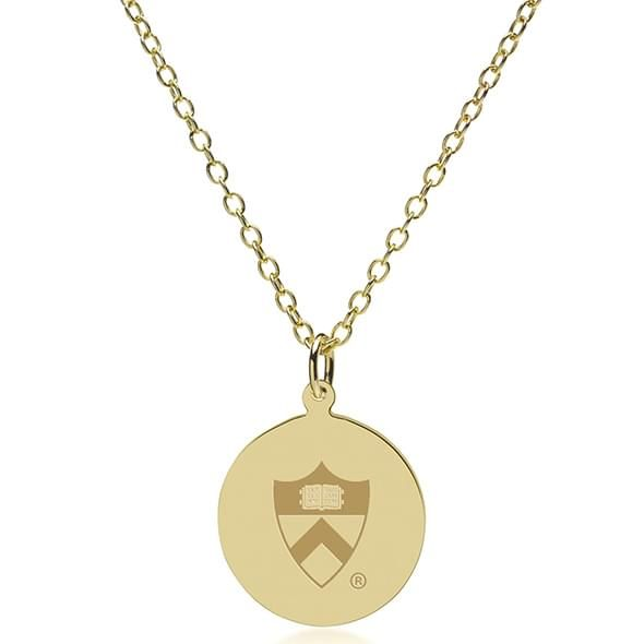 Princeton 14K Gold Pendant & Chain - Image 2