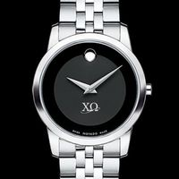 Chi Omega Women's Movado Museum with Steel Bracelet