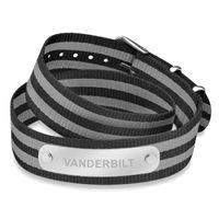 Vanderbilt University Double Wrap NATO ID Bracelet