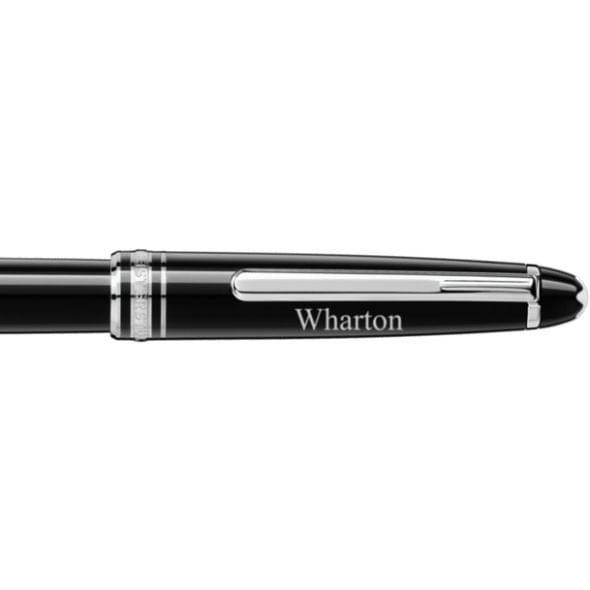 Wharton Montblanc Meisterstück Classique Rollerball Pen in Platinum - Image 2