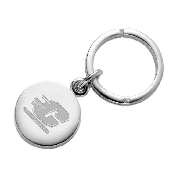 Central Michigan Sterling Silver Insignia Key Ring