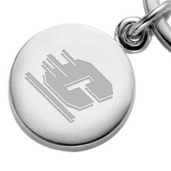 Central Michigan Sterling Silver Insignia Key Ring - Image 2