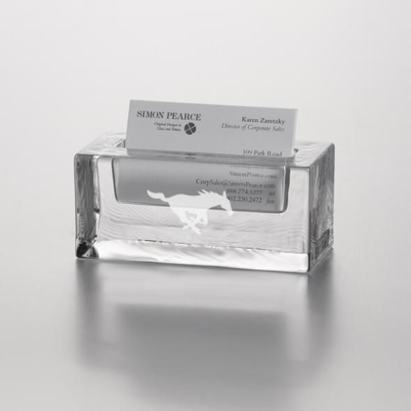 SMU Glass Business Cardholder by Simon Pearce - Image 2