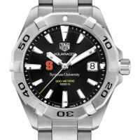 Syracuse University Men's TAG Heuer Steel Aquaracer with Black Dial