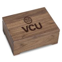 Virginia Commonwealth University Solid Walnut Desk Box