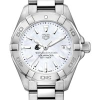 Washington State University Women's TAG Heuer Steel Aquaracer w MOP Dial