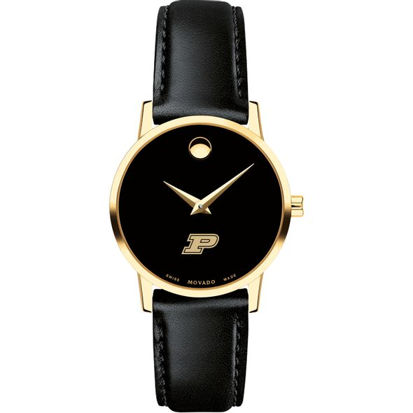 Purdue University Women's Movado Gold Museum Classic Leather - Image 2