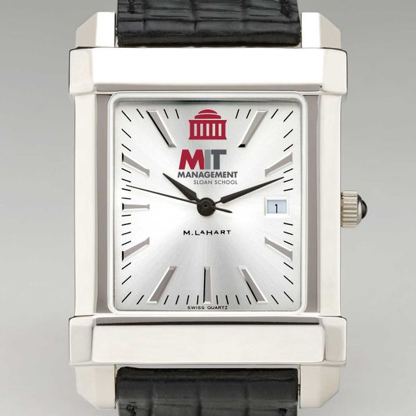 MIT Sloan Men's Collegiate Watch with Leather Strap - Image 1