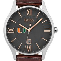University of Miami Men's BOSS Classic with Leather Strap from M.LaHart