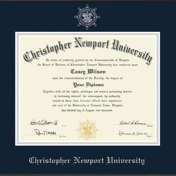 Christopher Newport University Diploma Frame, the Fidelitas - Image 2