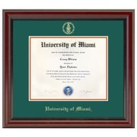 University of Miami Diploma Frame, the Fidelitas