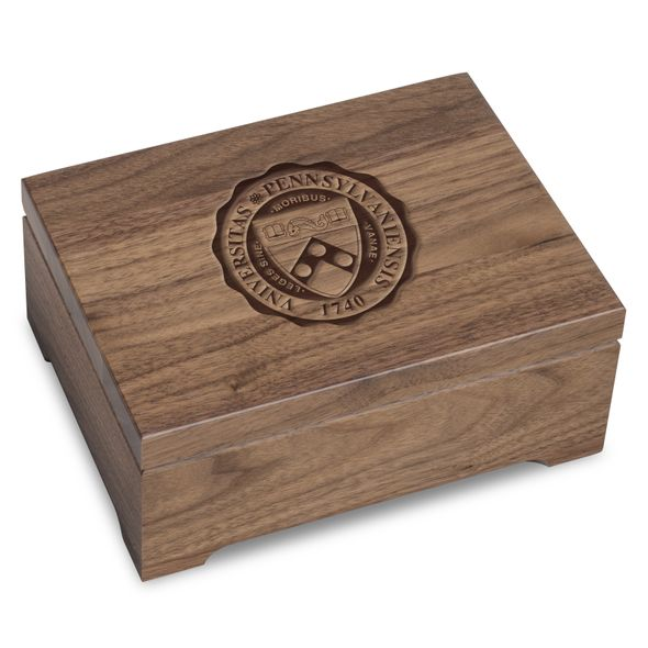 University of Pennsylvania Solid Walnut Desk Box