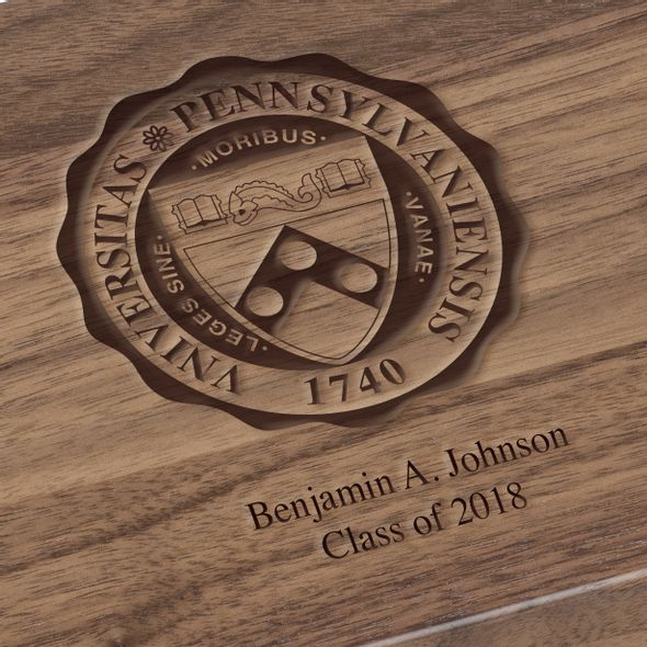 University of Pennsylvania Solid Walnut Desk Box - Image 2