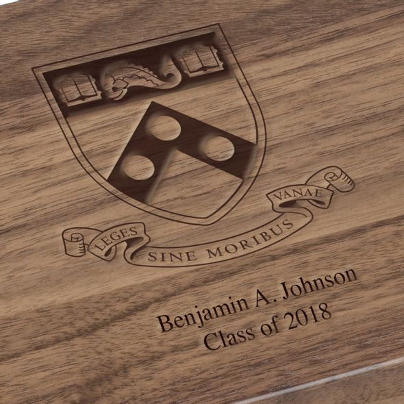 University of Pennsylvania Solid Walnut Desk Box - Image 3