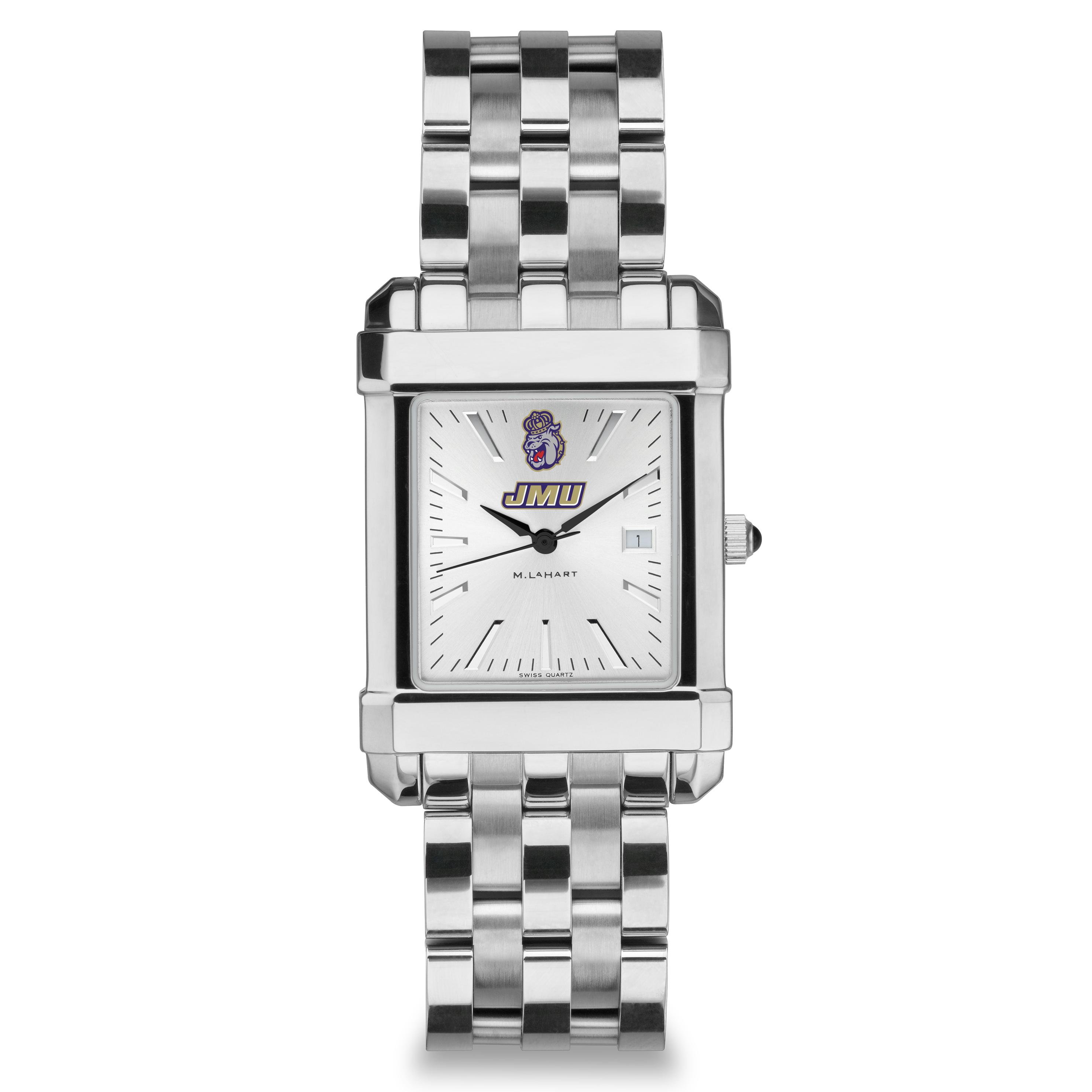James Madison Men's Collegiate Watch w/ Bracelet - Image 2
