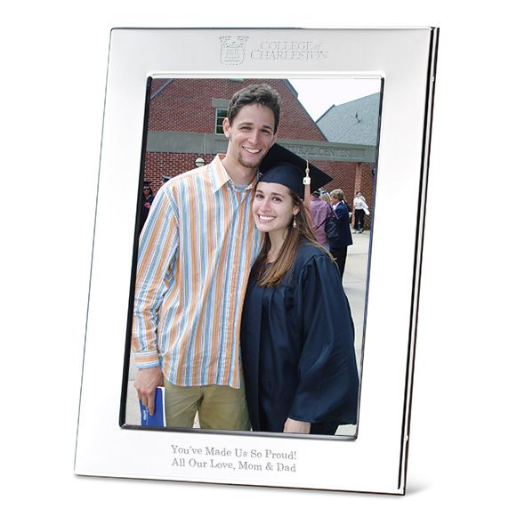 College of Charleston Polished Pewter 5x7 Picture Frame