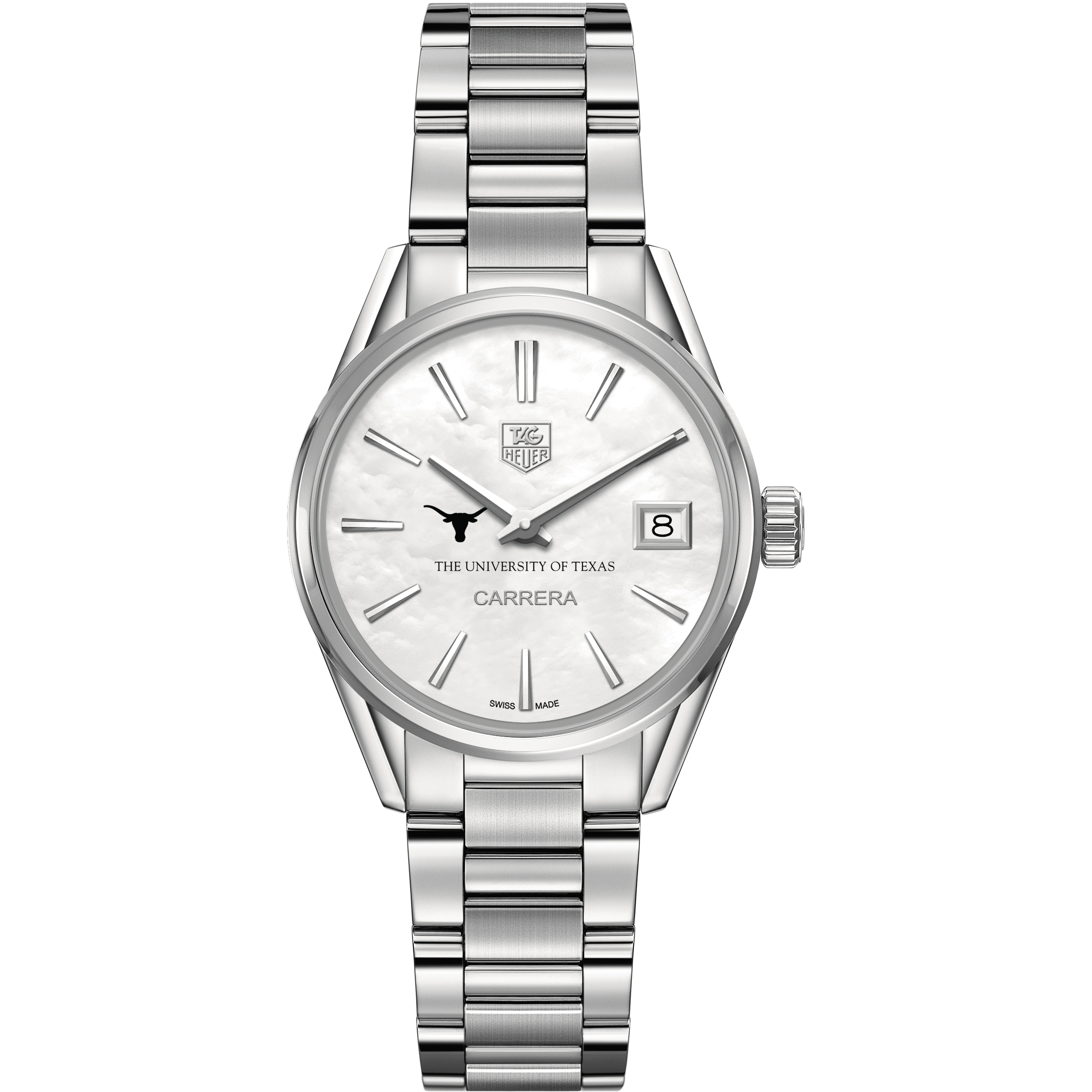 Texas Women's TAG Heuer Steel Carrera with MOP Dial - Image 2
