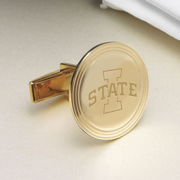 Iowa State University 18K Gold Cufflinks - Image 2
