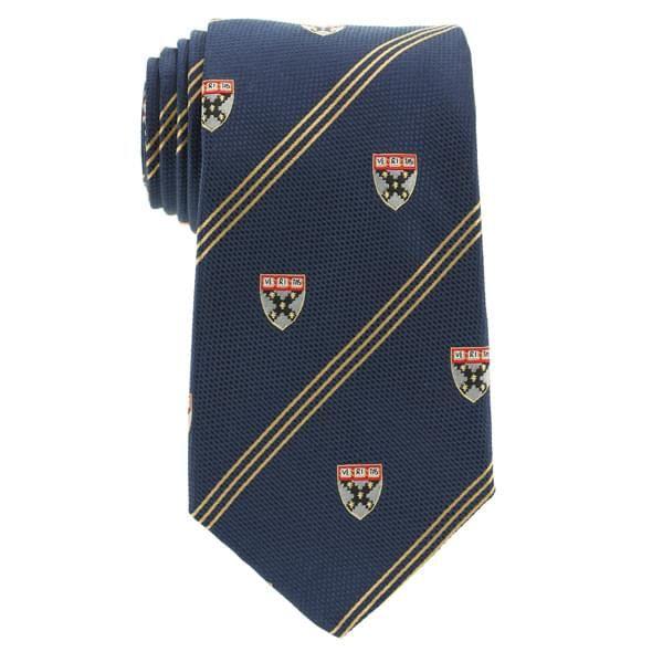 Harvard Business School School Tie in Blue - Image 2