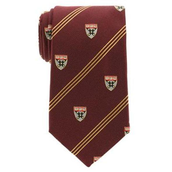 Harvard Business School Tie in Maroon with Gold