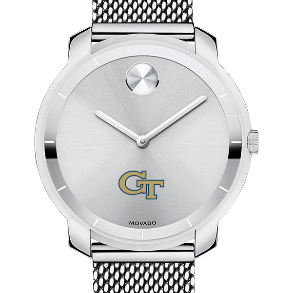 Georgia Tech Women's Movado Stainless Bold 36 - Image 1