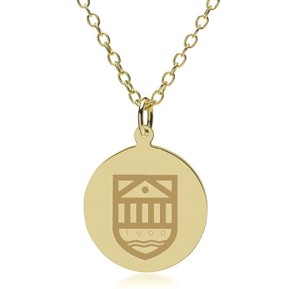 Tuck 14K Gold Pendant & Chain - Image 1