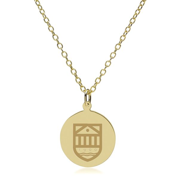 Tuck 14K Gold Pendant & Chain - Image 2