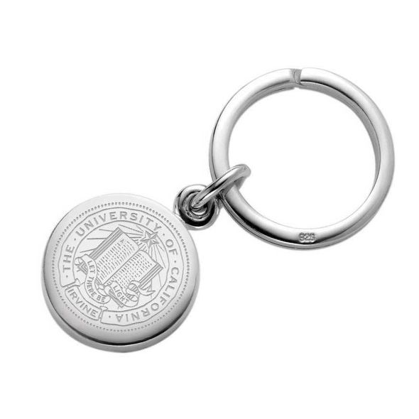 UC Irvine Sterling Silver Insignia Key Ring - Image 1