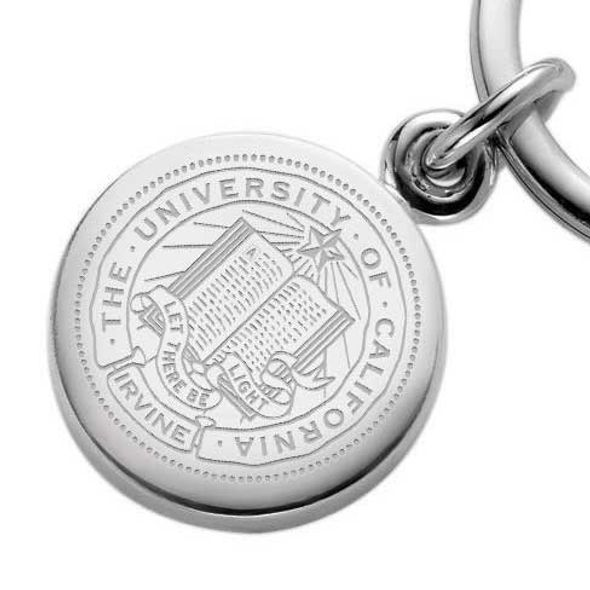 UC Irvine Sterling Silver Insignia Key Ring - Image 2